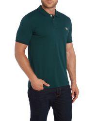 Paul Smith | Green Zebra Regular Fit Tipped Logo Polo for Men | Lyst