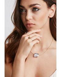 Forever 21 Multicolor Luna Norte Crystal Necklace