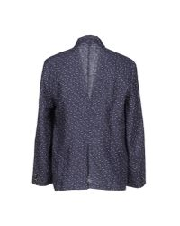 Barena | Blue Polka-Dot Linen Blazer  for Men | Lyst