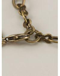 Lanvin - Metallic 'Love' Necklace - Lyst