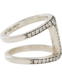 Hoorsenbuhs - Metallic Diamond Sterling Silver Dame Phantom Ii Ring - Lyst