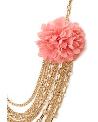 Forever 21 - Metallic Full Bloom Layered Necklace - Lyst