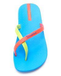 Ipanema - Neo Mix Flip Flops - Pink/blue/orange - Lyst