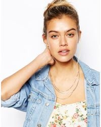 ASOS - Multicolor Multi Row Chain Necklace - Lyst