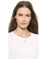 kate spade new york - Metallic Starry Eyed Pendant Necklace - Clear/Silver - Lyst