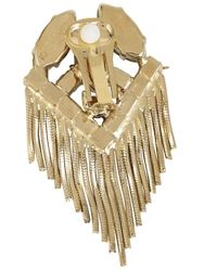 Iosselliani - Metallic Gold Plated Swarovski Fringe Earrings - Lyst