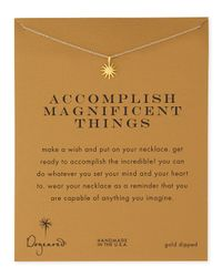 Dogeared | Metallic Gold-dipped Accomplish Magnificent Things Necklace | Lyst