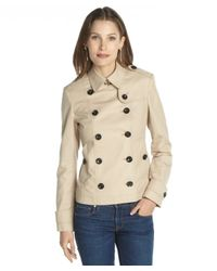 Burberry - Natural New Chino Dukesby Cotton Peacoat - Lyst