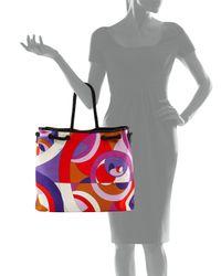 Emilio Pucci - Purple Kaleidoscope-Print Large Canvas Bag - Lyst