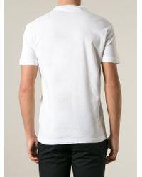 DSquared² - White Logo-Printed T-Shirt for Men - Lyst