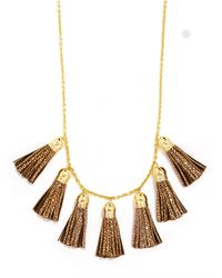 BaubleBar | Metallic Mini Leather Tassel Strand | Lyst