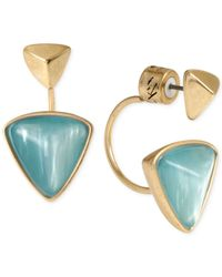 Kenneth Cole | Blue New York Gold-Tone Geometric Bead Drop Earrings | Lyst