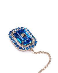Valentino - Blue Chain Helix Cuff Single Rhinestone Earring - Lyst