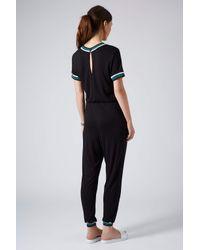 TOPSHOP - Womens Sports Trim Tshirt All in One Black - Lyst