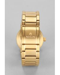 Nixon   Metallic Cannon Watch   Lyst