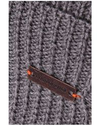 BOSS Orange | Gray Hat 'fomero5' In Chunky Knit for Men | Lyst