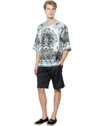 Dolce & Gabbana - Black Stretch Cotton Gabardine Shorts for Men - Lyst