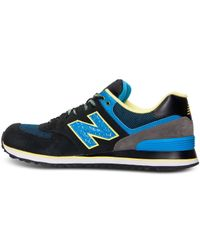 New Balance - Blue Men's 574 Casual Sneakers From Finish Line for Men - Lyst