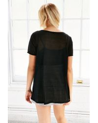 Silence + Noise - Black Rachel Sheer Top - Lyst