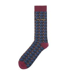 Ted Baker | Blue Patterned Dress Socks for Men | Lyst
