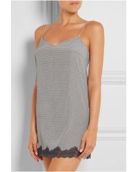 Stella McCartney - Gray Ellie Leaping Printed Stretch-silk Crepe De Chine Chemise - Lyst