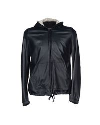 Band of Outsiders - Blue Hooded Leather Jacket  for Men - Lyst