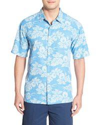 Jack O'neill - Blue 'hilo' Regular Fit Short Sleeve Floral Print Sport Shirt for Men - Lyst