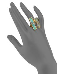 Alexis Bittar - Green Elements Moonlight Crystal Vine Three-Stone Ring - Lyst