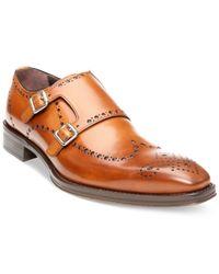 Donald J Pliner - Brown Cmonk 3 Wing-Tip Monk Strap Shoes for Men - Lyst