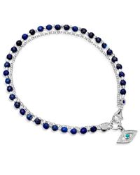 Biography - Blue Lapis Evil Eye Bracelet - Lyst