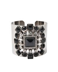 Helene Zubeldia | Black Crystal Cuff Bracelet | Lyst
