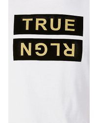 True Religion | White Metallic Flock Mens Tee for Men | Lyst