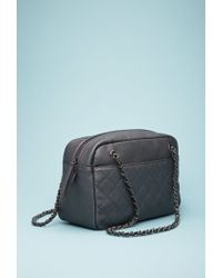 Forever 21 | Black Quilted Faux Leather Shoulder Bag | Lyst