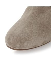Dune - Brown Portia Stacked Heel Low Western Boots - Lyst