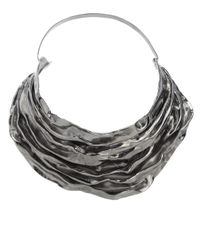 Annelise Michelson | Metallic Gunmetal Draped Choker | Lyst