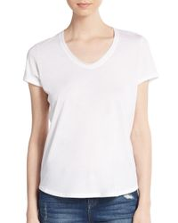 Vince | White Short-sleeve V-neck Tee | Lyst
