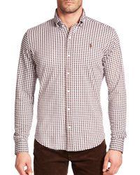 Polo Ralph Lauren - Brown Gingham Knit Dress Shirt for Men - Lyst