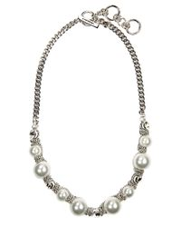 Givenchy | White Silvertone Toggle Necklace With Faux Pearls And Crystal Accents | Lyst