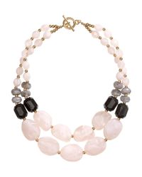 H&M - Natural Double-Stranded Necklace - Lyst