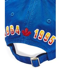 DSquared² | Blue Cotton Baseball Hat for Men | Lyst