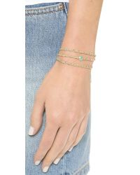 Sogoli | Metallic Stone Wrap Chain Bracelet - Gold/aqua | Lyst