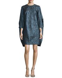 Zac Zac Posen - Blue Katelyn 3/4-sleeve Cocoon Dress - Lyst