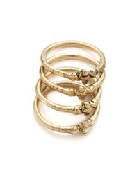 Vanessa Mooney - Metallic Pretty Little Darlin' Stackable Rings - Gold - Lyst