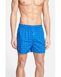 Lacoste | Blue Croc Print Boxers for Men | Lyst