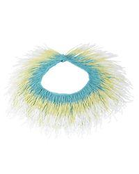 Roarke | Tango Fringe Necklace, Blue | Lyst