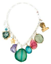 Katerina Psoma | Multicolor Stone Charm Necklace | Lyst