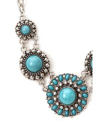 Forever 21 - Blue Boho Medallion Necklace - Lyst