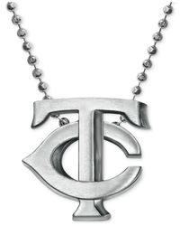 Alex Woo | Metallic Mlb Collection By Sterling Silver Minnesota Twins Pendant Necklace | Lyst