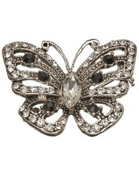 John Lewis | Metallic Glass Stone Miniature Butterfly Brooch | Lyst