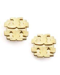 Tory Burch | Metallic Logo Earrings | Lyst